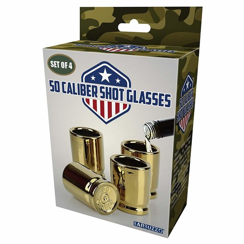 BARBUZZO 50 CALIBER SHOT GLASSES (4 PACK)