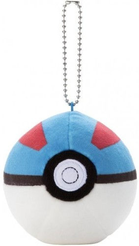 "Takaratomy Pokemon - 3 Mocchi Mocchi Pokeball Key - TakaraTomy Pokemon - 3"" Mocchi Mocchi Pokeball Keychain - PokeBallPlush"