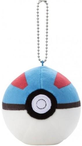 """Takaratomy Pokemon - 3 Mocchi Mocchi Pokeball Key - TakaraTomy Pokemon - 3"""" Mocchi Mocchi Pokeball Keychain - PokeBallPlush"""