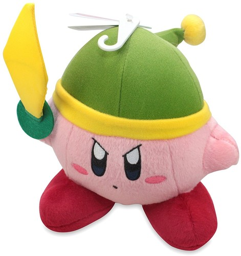 "- Little Buddy Kirby Adventure Kirby 6"" Sword Plush"