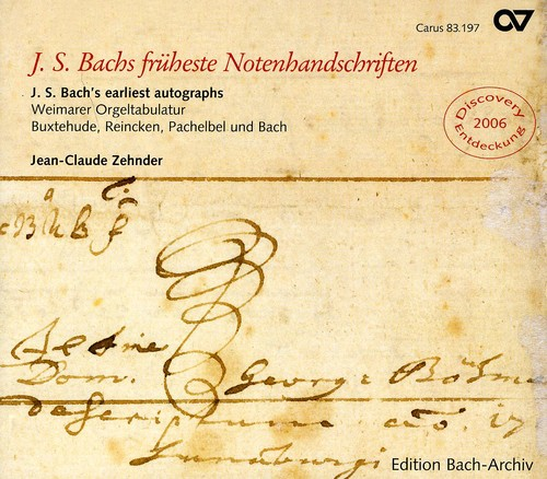 J.S. Bach Earliest Autograph