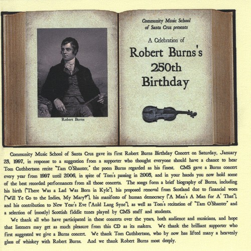 Celebration of Robert Burns's 250th Birthday