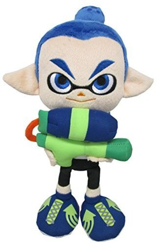 "- Little Buddy Splatoon Inkling Boy 9"" Plush - Blue"