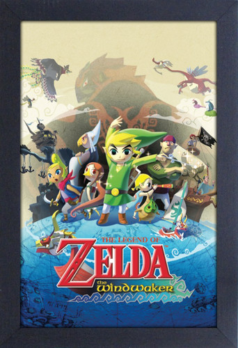 Zelda Windwaker 11X17 Framed Gel Coat Print - Zelda Windwaker 11x17 Framed Gel Coat Print