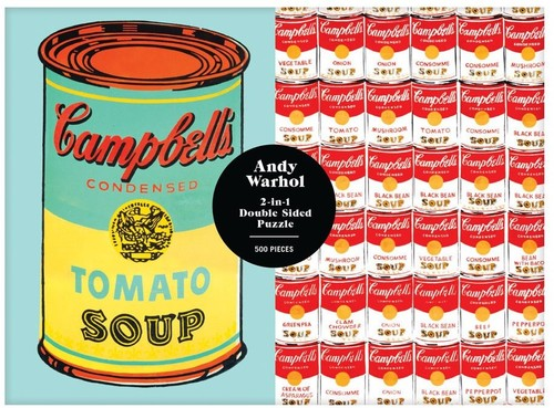 Warhol, Andy - Andy Warhol Soup Can 2-Sided 500 Piece Puzzle