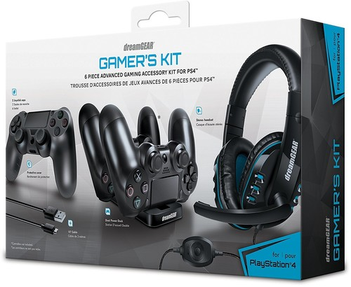 Dg Dgps4-6436 Ps4 6 in 1 Advanced Game Acc Kit - DreamGear Advanced Gamer's Starter Kit for PlayStation 4