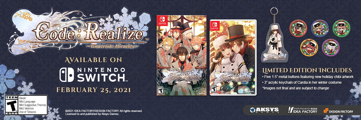 CODE: REALIZE WINTERTIDE MIRACLES / SWI CODE: REALIZE WINTERTIDE MIRACLES LIMITED EDITION