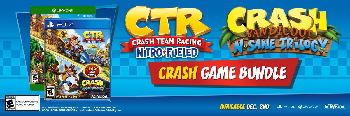 CRASH TEAM RACING NITRO FUELED / CRASH BANDICOOT N. SANE TRILOGY 2-PACK