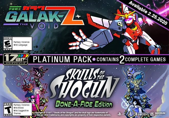 GALAK-Z: The Void / Skulls of the Shogun Bone-A Fide Platinum Pack