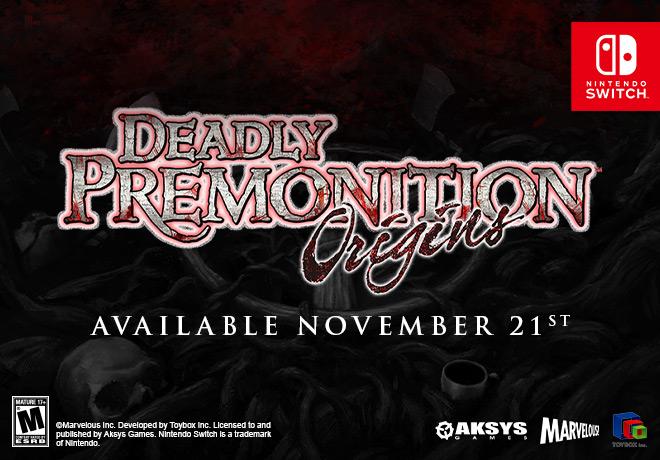 DEADLY PREMONITION ORIGINS / DEADLY PREMONITION ORIGINS COLLECTOR'S EDITION