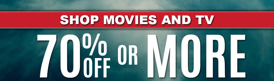 70% or more  Movies Sale