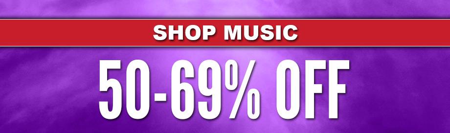 50%-69% off Music Sale