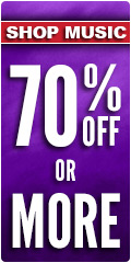 70% or more Music Sale