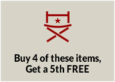 Buy 4 of these items, get a 5th FREE