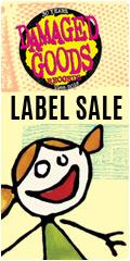 Damaged Goods Label sale