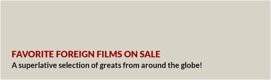 Favorite Foreign Films on sale